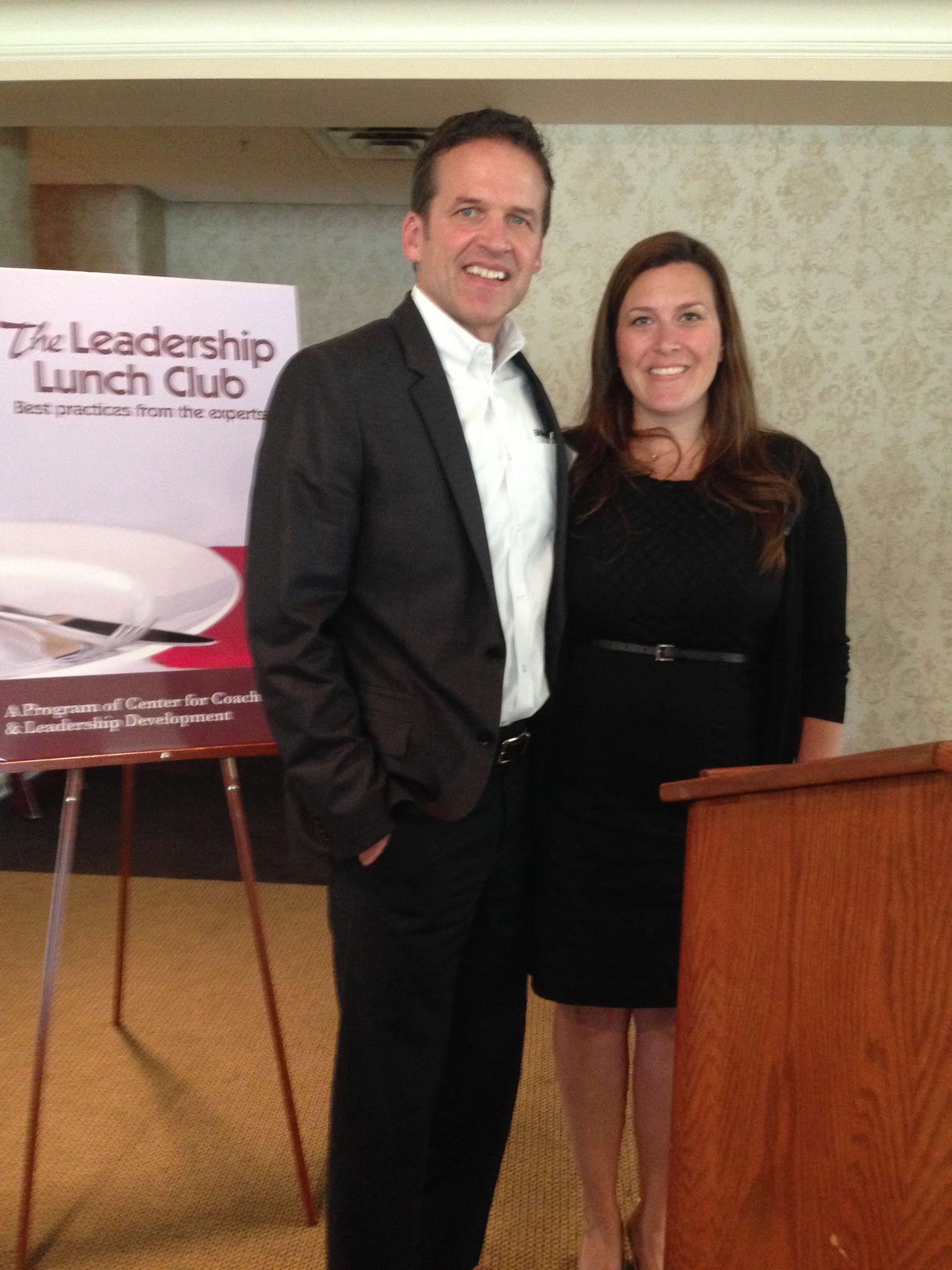Allison and I after her recent presentation on business etiquette.